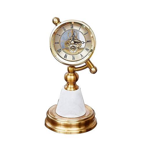 GZHK Reloj de Mesa Creativo Vintage Marble Art Reloj de Chimenea ...