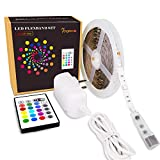 Lawn & Patio - 16.4ft RGB Led Strip Lights Kit with Remote, 12v DC 5050 Leds Mini Control Color Changing Led Lighting, Non-waterproof Light Strips DIY Christmas Holiday Home Kitchen Bar Indoor Party Decoration