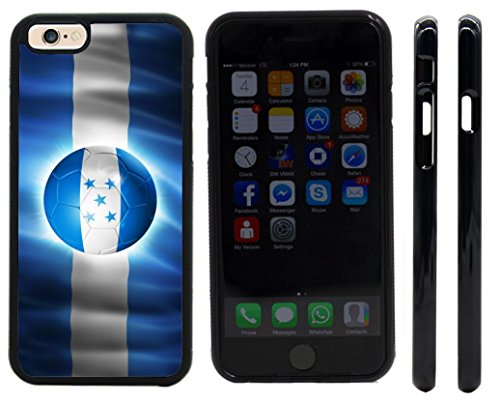 Rikki KnightTM Brazil World Cup 2014 Honduras Team Football Soccer Flag Design iPhone 6 Case Cover (Black Rubber with front bumper protection) for Apple iPhone 6