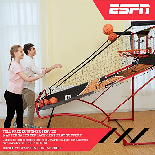 ESPN EZ Fold 2 player Basketball Game with Polycarbonate Backboard and LED Scoring by ESPN (Image #9)