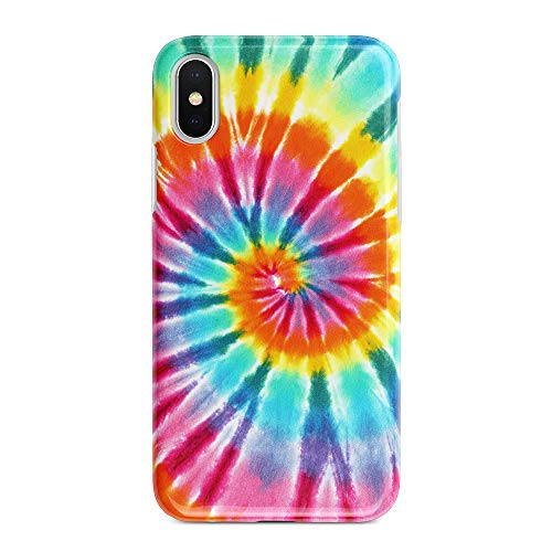 uCOLOR Case Compatible with iPhone Xs/X,iPhone 10 Protective Case Tie Dye Slim Soft TPU Silicone Shockproof Cover Compatible iPhone XS/X/10(5.8 inch) (Tye Dye Phone Case)