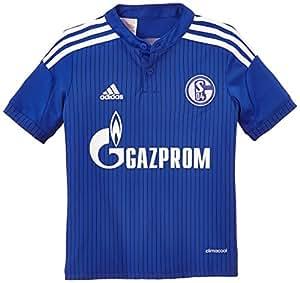 adidas Schalke 04 - Camiseta Infantil, diseño de Primera equipación del Schalke 04 Azul Azul Cobalto/Blanco Talla:176
