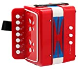 Classic Cantabile Bambino Children's accordion, red, 2 basses
