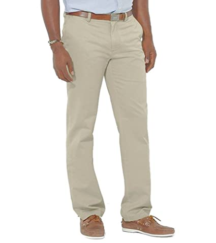 581da2cdc Ralph Lauren Men s Suffield Classic-Fit Flat-Front Chino Pant (Tan) -  46Bx32 Big   Tall at Amazon Men s Clothing store