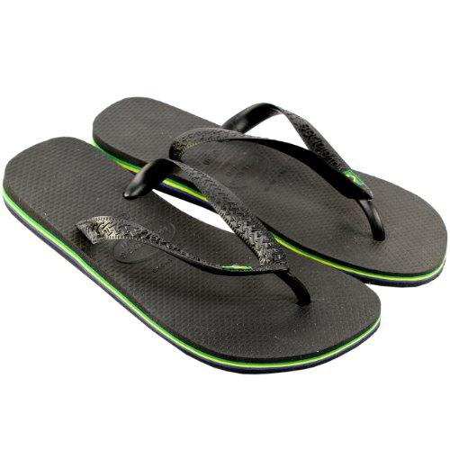 Sandalias Para Mujer Havaianas Brasil Flip Flop 4-9 Negro