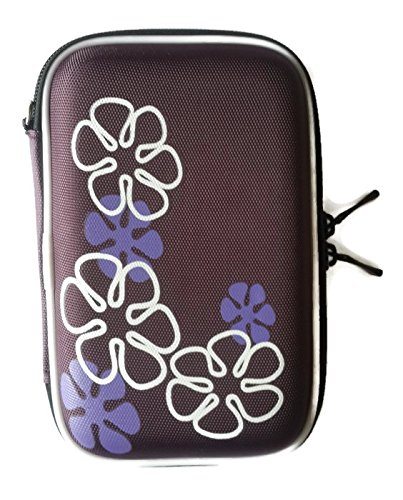 UPC 884224165925, Portable Hard Drive Case - Purple color with flower pattern