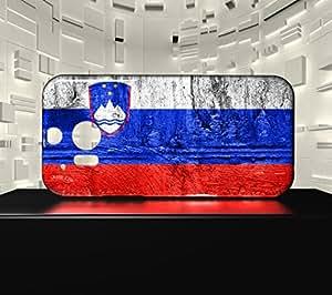 Funda Carcasa para HTC M8 Bandera ESLOVENIA 07