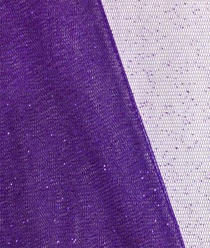 Purple Glitter Tulle Fabric - by the Yard
