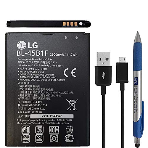 (Original Official LG BL-45B1F Battery 2900mA/11.2W with Micro USB Universal Stylus for LG V10 (Sealed Pack))