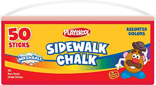Playskool Super Bucket Sidewalk Chalk 50 Count (Plastic Tub With Handle) (50 Ct Tub)