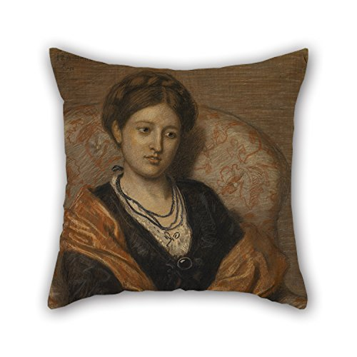 Beautifulseason Oil Painting Ford Madox Brown - Portrait Of Miss Iza Duffus Hardy Cushion Covers 20 X 20 Inches / 50 By 50 Cm Gift Or Decor For Seat,wife,deck Chair,kitchen,outdoor,kids Boys - Each