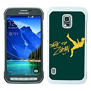 Popular Samsung Galaxy S5 Active Case ,Dare To Zlatan Green white Samsung Galaxy S5 Active Cover Beautiful And Durable Designed Case