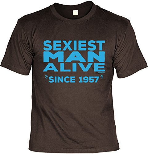 T-Shirt - Sexiest Man Alive - Since 1957 - lustiges Sprüche Shirt als Geschenk zum 60. Geburtstag