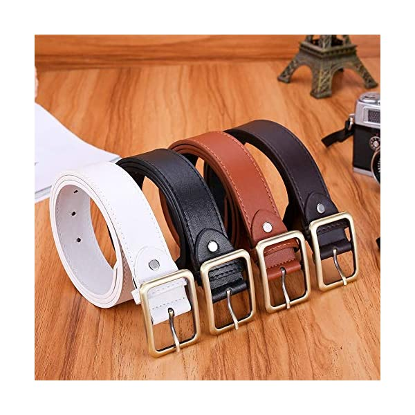 Firally Hot sale Cintura,Donne Casual Pin Fibbia Cinturino Ecopelle Jeans Abito regolabile cintura Dimensioni Regolabili… 3 spesavip