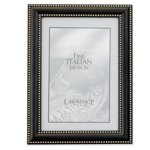 Silver Brushed Baby Frame (Lawrence Frames 5 by 7 Metal Picture Frame Oil Rubbed Bronze with Delicate Beading)