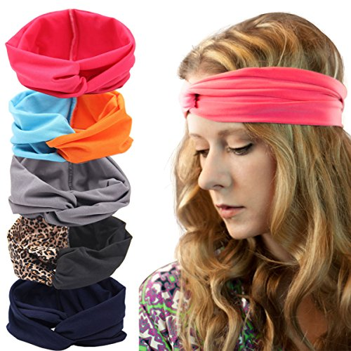 Price comparison product image Womens Boho Headband - Floal Fashion Elastic Printed Head Wrap Style Hairband Headscarf Hair Accessories