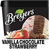 Breyers Ice Cream, Vanilla Chocolate Strawberry, 48 oz