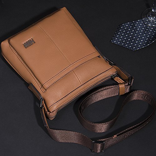 Bag Business Oneworld Genuine First Men Shoulder Of Grey Messenger New Casual Bags Cowhide Layer Leather Khaki YwrYXq