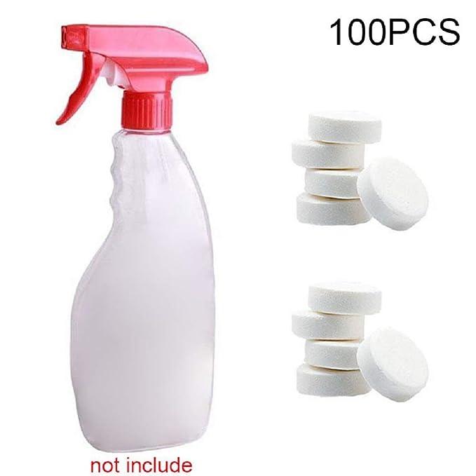 Majome 1/5 / 10Pcs Multifuncional Efervescente Spray Cleaner Concentrado Herramienta de Limpieza del hogar (100pcs)