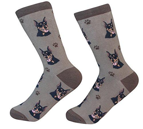 Doberman Dog Breed Socks Unisex Sock Daddy by EampS Pets