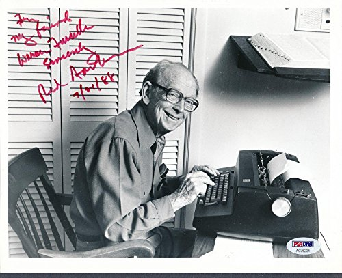 Autographed Red Barber Photo - 8x10 AC76201 - PSA/DNA Certified - Autographed MLB Photos (Autographed Barber Photo)