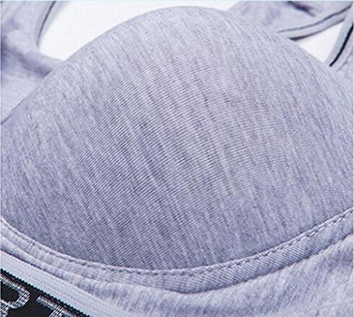 Ailin home- Vest Sportswear Underwear Mujeres Sin Anillo De Acero Yoga Fitness Para Ajustar El De Sujetador Gris