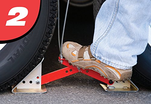 Fastway ONEstep Wheel Chock Double Pack For Tandem Axle Trailers and RVs 84-00-4840 --16 Inches to 24 Inches Long -- QTY 2 by Fastway (Image #3)