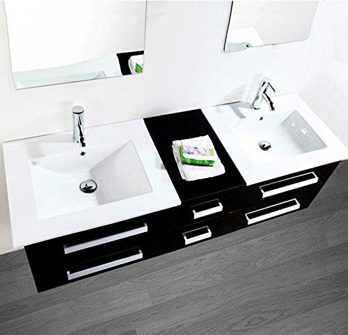 Doppelbadmöbel mit zwei waschbecken