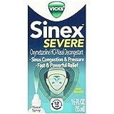 Vicks Sinex Severe Nasal Spray with Menthol 0.50 oz( Pack of 3)