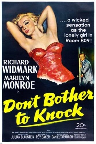 MARILYN MONROE movie poster DON'T BOTHER TO KNOCK sultry fli