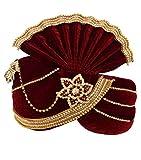 INMONARCH Mens significance Groom Turban Pagari Safa Groom Hats TU1096 22-Inch Red