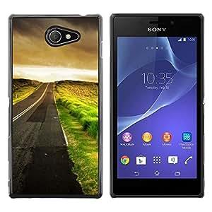 Be Good Phone Accessory // Dura Cáscara cubierta Protectora Caso Carcasa Funda de Protección para Sony Xperia M2 // Empty Driving Hope Cars Freedom