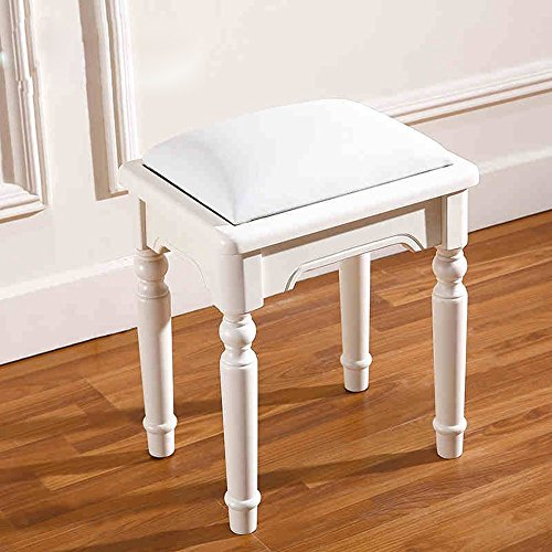 Used, Barstools LHA Dressing Table Stool White Vintage Padded for sale  Delivered anywhere in USA