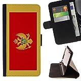 STPlus Montenegro Montenegrin Flag Wallet Card Holder Cover Case for Microsoft Lumia 540 Dual Sim