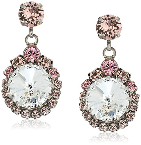 (Sorrelli Crystal Rose Assorted Round Crystal Drop Earrings)