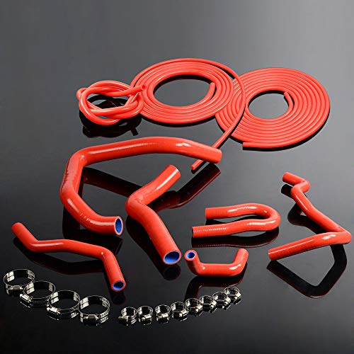 Red Silicone Hose Clamps Kit Fits For HONDA CIVIC Type-R, used for sale  Delivered anywhere in USA