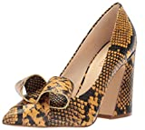 Nine West Women's Haddriana Reptile Print Pump, Yellow Reptile Print, 7.5 M US