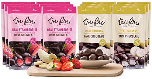 Tru Fru 12-pack Grab and Go Chocolate Fruit Snacks (Tropical Pack) by Tru Fru