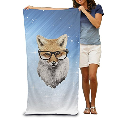 ShanxianP Mr.Fox Soft Absorbent Beach Towel Pool Towel (Scooby Doo Ears And Tail)