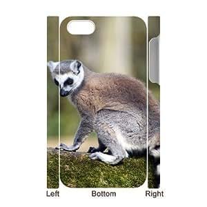 3D Bumper Plastic Case Of Lemur customized case For Iphone 4/4s