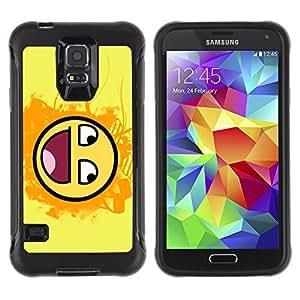 Hybrid Anti-Shock Defend Case for Samsung Galaxy S5 / Smiley LOL MEME