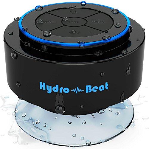 Bluetooth-Lautsprecher hydro-beat Wireless Wasserdichte Lautsprecher Radio 100% Geld-zurück-Garantie einfach an jedes weitere Bluetooth-fähige Gerät für den Einsatz in jedem Ort auch unter Wasser. Ideal für Bad, Küche und auf Reisen
