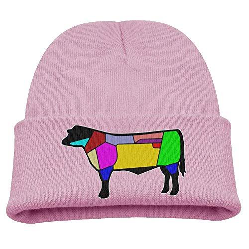 Td45JS&EW Boys Girls Comfortable Knitted Cap Dutch Beef Cuts Knit Hat