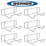 Werner AC11 Stepladder Wall Hanger / Ladder Storage / Organizer (Pack of 6)
