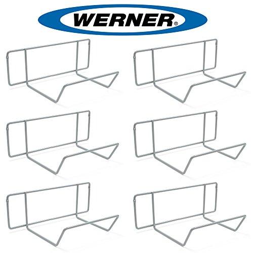 Werner AC11 Stepladder Wall Hanger / Ladder Storage / Organizer (Pack of 6) by Werner