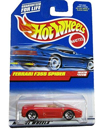 Mattel Hot Wheels 1999 1:64 Scale Red Ferrari F355 Spider Die Cast Car Collector #1119
