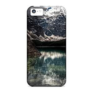 Awesome Design Lake With Reflection Hard Cases Covers For Iphone 5c