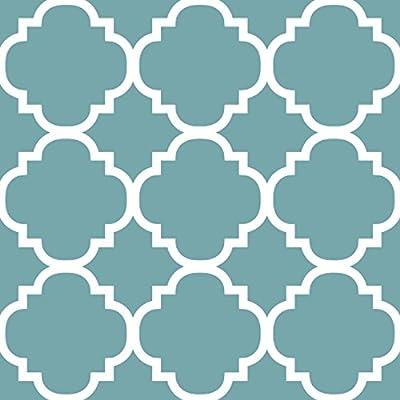 H.VERSAILTEX Blackout Room Darkening Curtains Home Fashion Window Panel Drapes - Moroccan Tile Quatrefoil Pattern