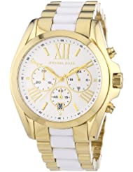 Michael Kors Womens Bradshaw Chronograph Watch, Gold, One Size