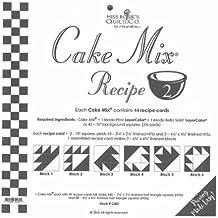 "Cake Mix Recipe #2 ~44 recipe cards 450, 2-1/4"" x 2-1/4"" finished 1/2 square triangles"